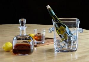 Woodbury Barware - Decanter and Ice bucket by Simon Pearce