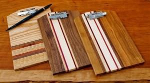 Joel & Karma Natural Hardwood Clipboards