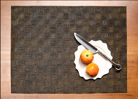 Copper & Black Tulle Tech Placemat