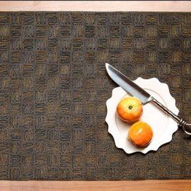 Mink Fringe Stripe Placemat