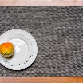 Light Grey Mini Basketweave Rectangular Placemat