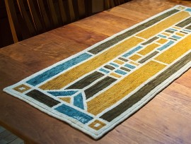 """Stained Glass Window"" Table Runner"