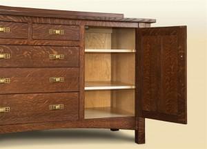 open cabinet sideboard