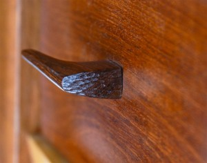 Carved Cabinet Wooden Handle Detail
