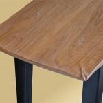Oak Sofa Table Intricate Corner detail