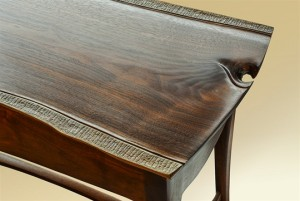 Carved Console with Drawers detail