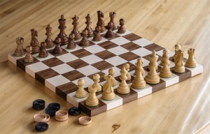 Walnut & Maple Chess Set