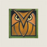 Green Oak Owl Tile