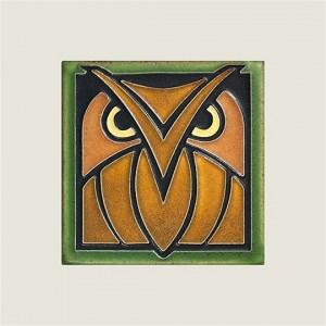 Green Oak Owl Tile