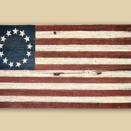 Reclaimed Barn Wood Betsy Ross Flag - Racine, WI