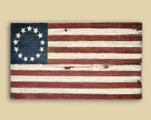 Reclaimed Barn Wood Betsy Ross Flag - Racine, WI