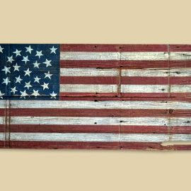 Reclaimed Barn Wood Missouri Compromise Flag