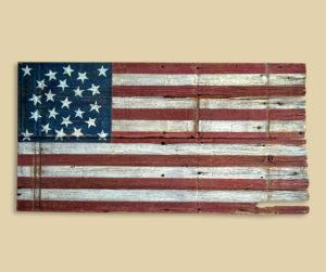 Reclaimed Barn Wood Missouri Compromise Flag