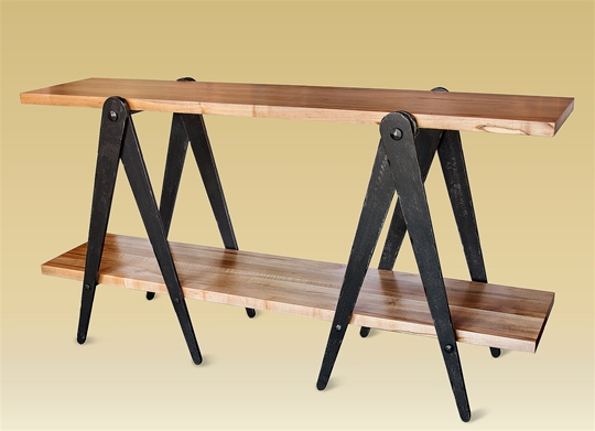 Charleston Forge Sawhorse Console Table