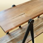 Sawhorse console Table above view