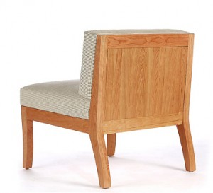 Sawbridge Studios Eau Claire Slipper Chair back