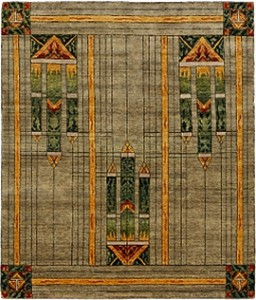 The Stained Glass Rug in Green