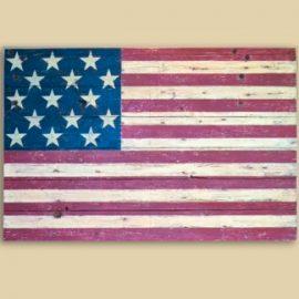 Reclaimed Barnwood 15 Star Flag