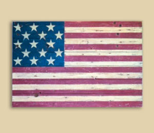 Reclaimed Barnwood 15 Star Flag