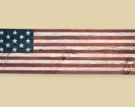 Reclaimed Barnwood First Official Flag - Long Grove
