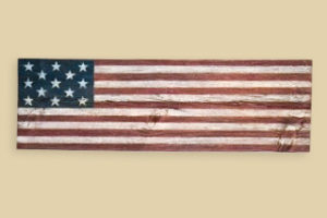Reclaimed Barnwood First Official Flag - Long Grove