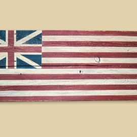 Reclaimed Barnwood Continental Colors Flag