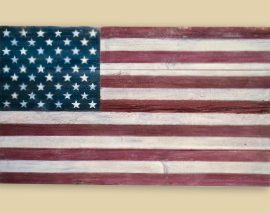 Reclaimed Barnwood 50 Star Flag