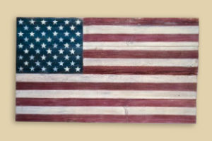 Reclaimed Barnwood 50 Star Flag