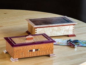 Marquetry Keepsake Boxes (Axis and Dots & Dash Boxes)