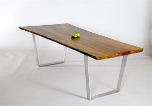 Sycamore Table with Steel Legs