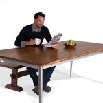 Walnut & Steel Dining Table