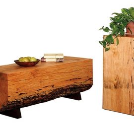 Honey Locust Slab Coffee Table
