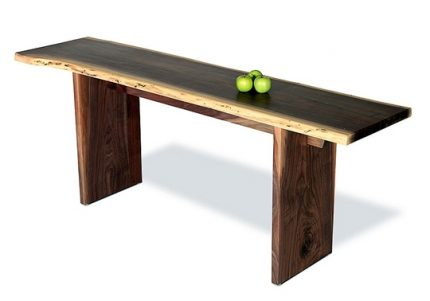 California Live Edge Console Table