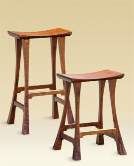 Legacy Stools in Tiger Maple