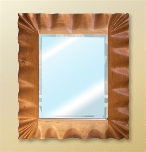 Hardwood Carved Ruffle Mirror