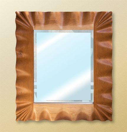 Hardwood Carved Ruffle Mirror
