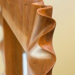 Hardwood Carved Ruffle Mirror Corner Detail