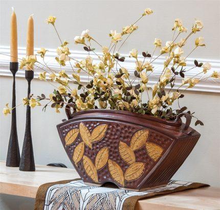 Keystone Vase in Brick