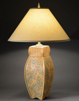Four-Sided Lamp in Gold