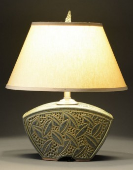 Small Keystone Lamp in Sage