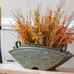 Long Keystone Vase in Sage