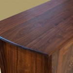 Two Door Walnut Cabinet top detail
