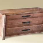 Three Drawer Low Chest side view