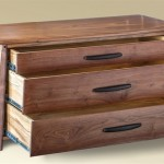 Three Drawer Low Chest open drawer detail