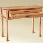 Two Drawer Cherry Console open drawer view