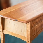Two Drawer Cherry Console detail