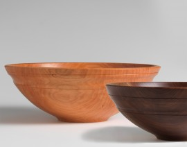 Sawbridge Studios Willoughby Bowls Andrew Pearce Cherry or Walnut