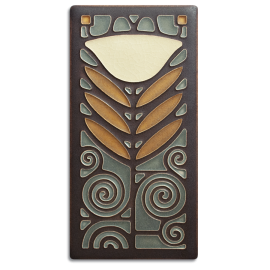 Stone Dard Hunter Poppy Tile