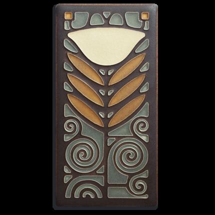 Stone Dard Hunter Poppy Tile