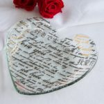 Sweet Nothings Glass Heart Plate